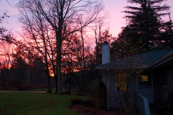 November_sunset_-_front_yard